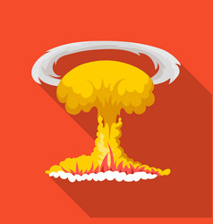 Nuclear explosion icon in flat style isolated on vector