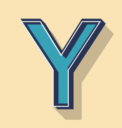 Letter y retro text style fonts concept vector