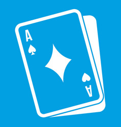Playing card icon white vector