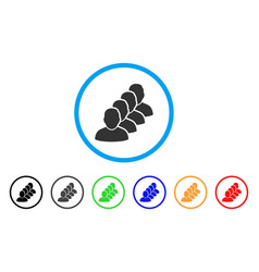 People queue rounded icon vector