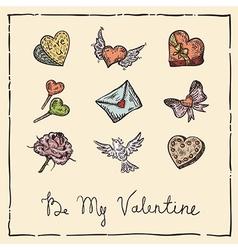 Vintage valentine vector