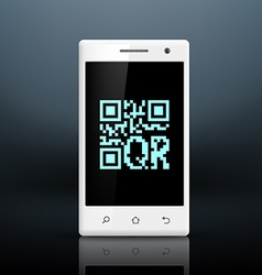 Scanning qr code on the screen of your smartphone vector