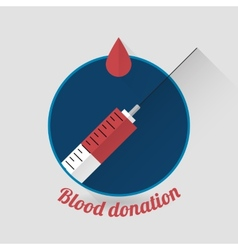 Flat style blood donation icon vector