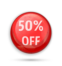 50 percent off sign or symbol vector