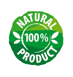 Logo round seal for natural products vector
