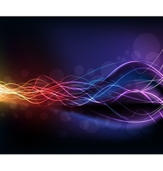 Colorful high light dynamic background vector