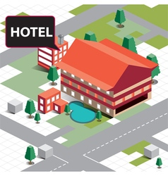 Map isometric hotel vector