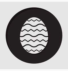 information icon - Easter egg vector image
