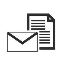 Envelope with paper document icon vector