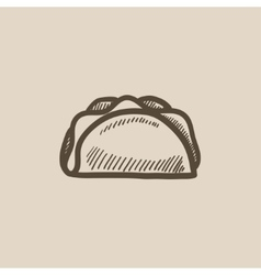 Taco sketch icon vector