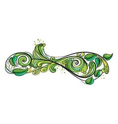 A creative green border vector image vector image