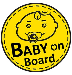 Baby on board vector image