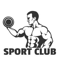 Bodybuilding or Gym emblem vector image vector image