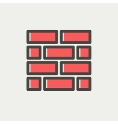 Bricks thin line icon vector image