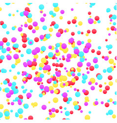 bright colorful yellow red and blue confetti vector image