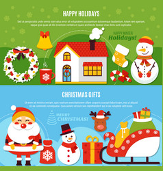 christmas holidays and gifts banners vector image vector image