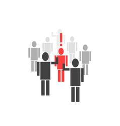 Different person from crowd vector