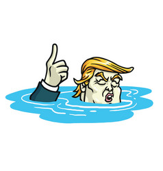 Donald trump climate change agreement cartoon vector