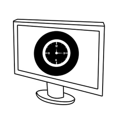 Electronic device screen with media icon vector