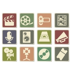 Film Industry Icons vector image vector image