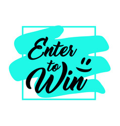 giveaway handwritten lettering text and bright vector image