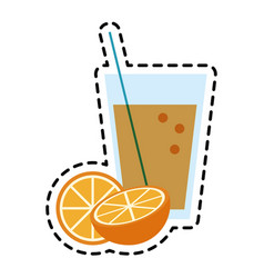Glass of orange juice icon image vector