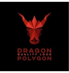 Head polygon dragon origami logo vector