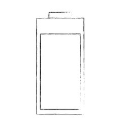 isolated charged battery vector image