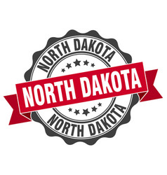 north dakota round ribbon seal vector image vector image