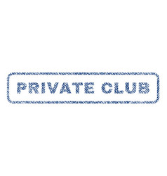private club textile stamp vector image vector image