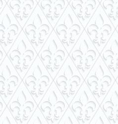 Quilling paper fleur-de-lis with dots vector