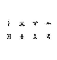set of 8 editable dyne icons includes symbols vector image vector image