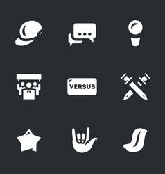 Set of rap battle icons vector