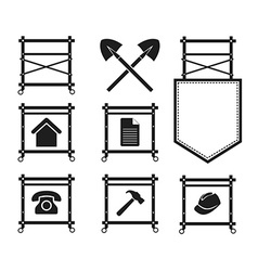 Set of Scaffolding Icons for web site vector image vector image