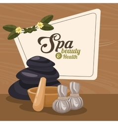 Spa beauty and health herbal organic wellness vector