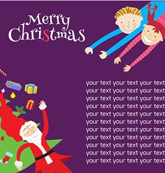 template christmas4 vector image