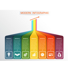 Template infographic for 7 options vector
