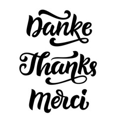 Thank you phrase hand written lettering vector