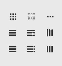 ui menu icons set vector image