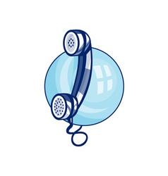 Vintage retro telephone vector