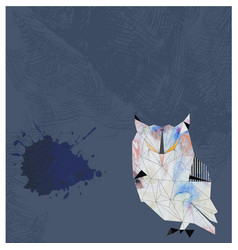 Watercolor owl background vector