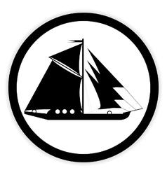 Sailing ship button vector image