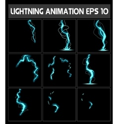 Web lightning animation a strike to the vector