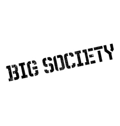 Big society rubber stamp vector