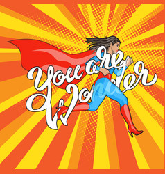 wonder runing woman vector image