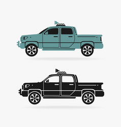 vehicle pickup symbol vector image
