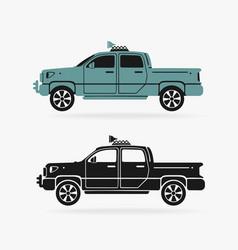 Vehicle pickup symbol vector