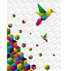 Colorful cubes in motion vector