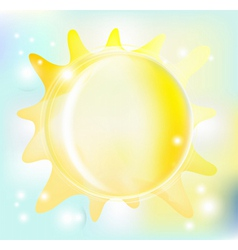 beautiful sun vector image