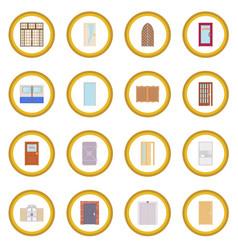 Door icon circle vector